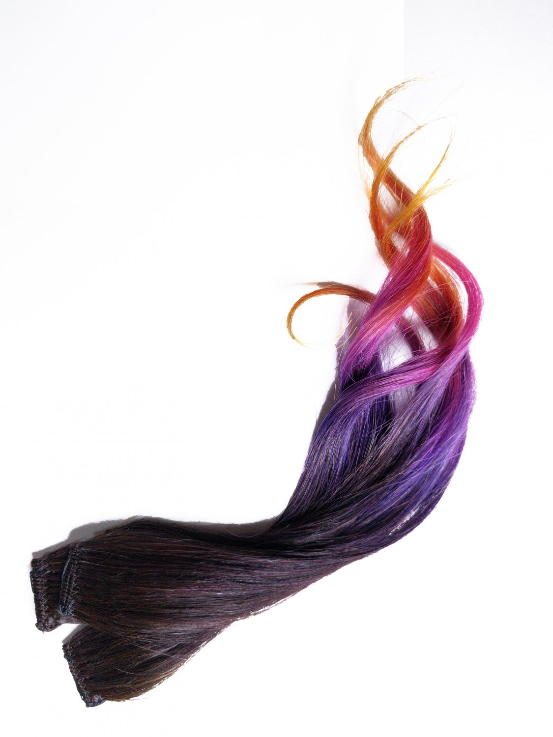 "12"" Dragon Breath 100% Human Hair Ombre Clip in Extensions"