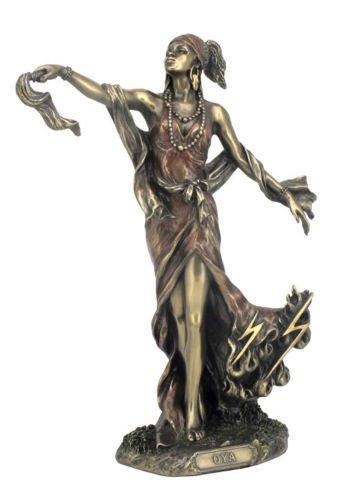 8.75 Inch Orisha Oya Lucumi Santeria Statue Figurine Figure African God Wind