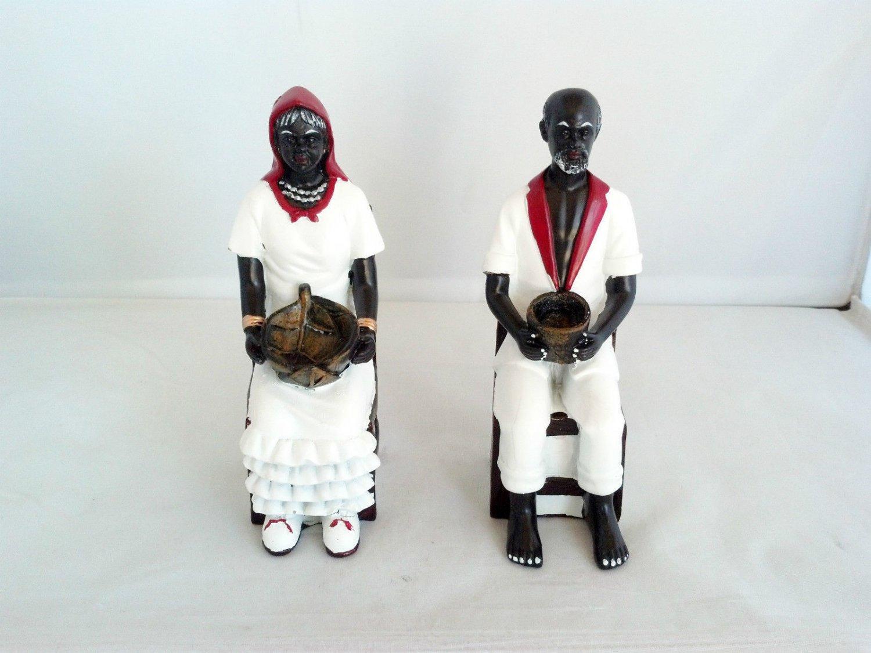6 Inch Francisco and Francisca Statue San Santo Santa Santeria Yoruba Cuba
