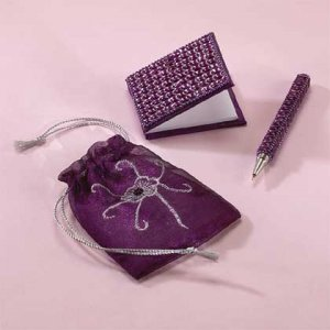 Beaded Pen & Notebook Set