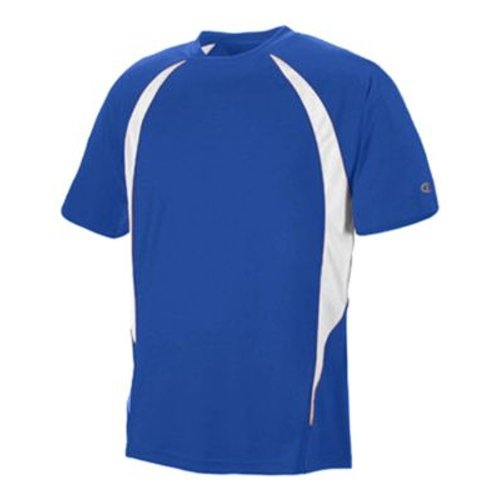 Champion Double Dry Elevation T-Shirt in AthleticRoyal & White, Size: 2XL