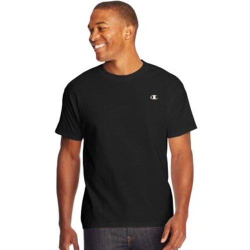 Champion Cotton Jersey Men's T Shirt - Black, 2XL, HBI_CT2226