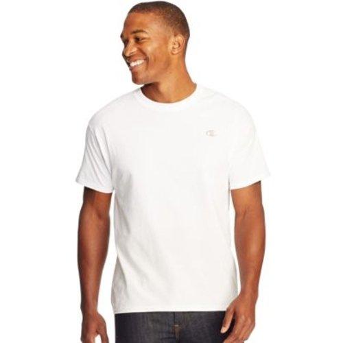 Champion Cotton Jersey Men's T Shirt - White 2XL HBI_CT2226