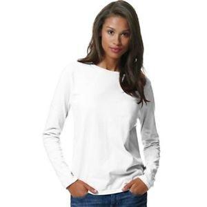 Hanes Juniors Long-Sleeve Cotton T-Shirt