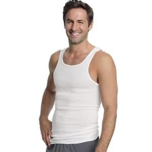 Hanes Men's All-Season White A-Shirt 100% Cotton Undershirt 3-Pack  Style: WL372