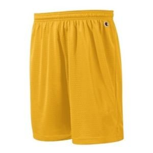 """Champion Hanes Flat 9"""" Polyester Mesh Casual Shorts Style: 8731 Color: cGold, Size: XL"""