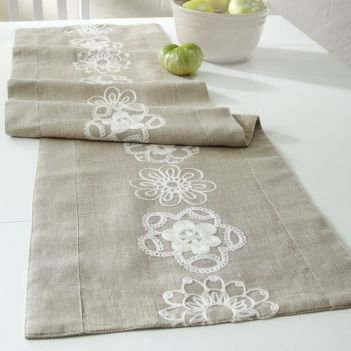 """Fashionably Fawn Ornate 48"""" Runner"""