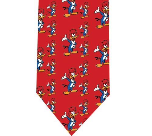 Woody Woodpecker Tie - Retro Cartoon - Model 2