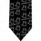 Black Lucky Cat Tie - Model 5