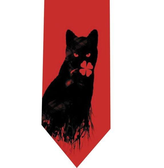 Clover Cat Red Tie - Model 9