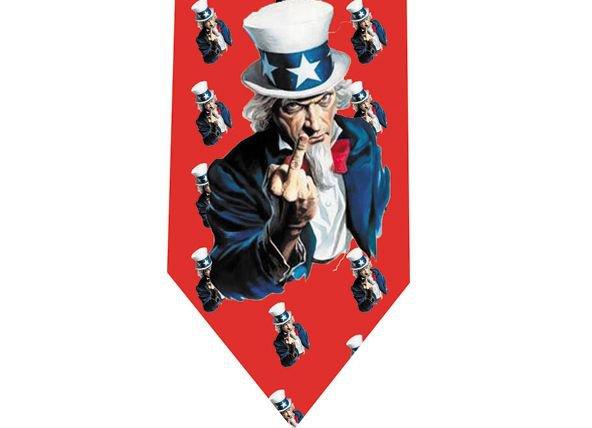 Uncle Sam Communism Fun Tie - Fuck You