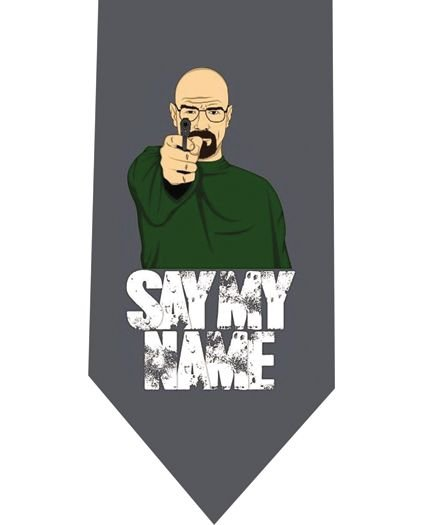 Say My Name Tie - Model 2 - Grey