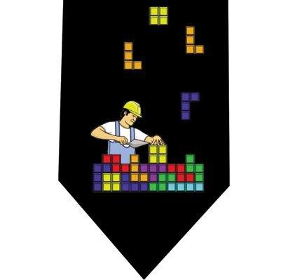 Tetris Tie - Retro Arcade Game