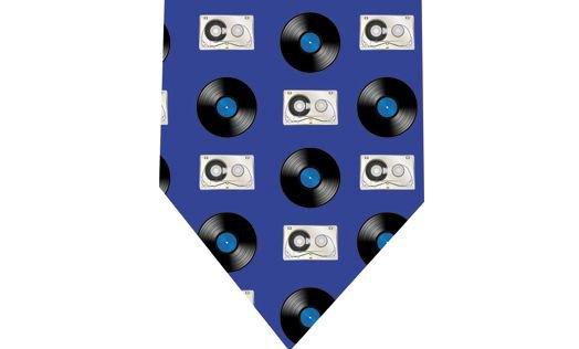 Vinyl Record Cassette Tie - Retro Audio
