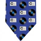 Vinyl Record Cassette Tie - Retro Audio