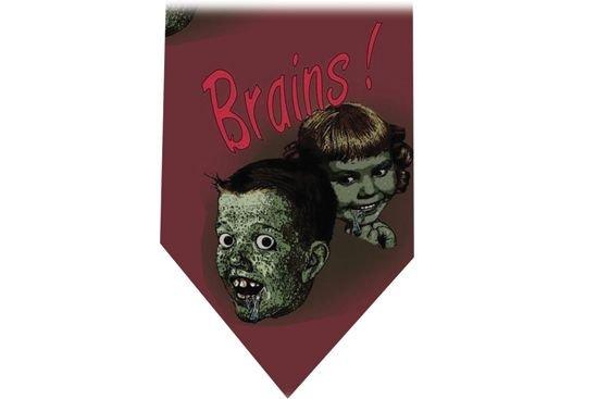 Brains Tie Retro Horror