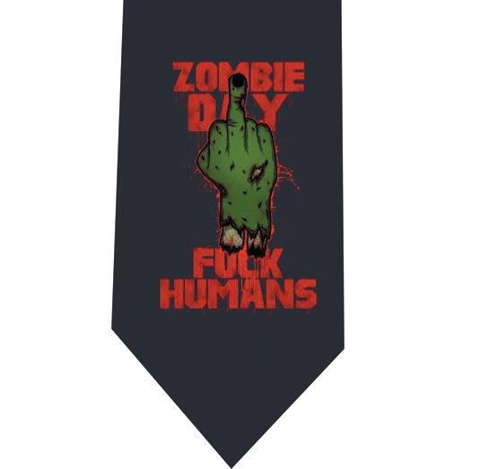 Zombie Day Tie - Model 3 Grey