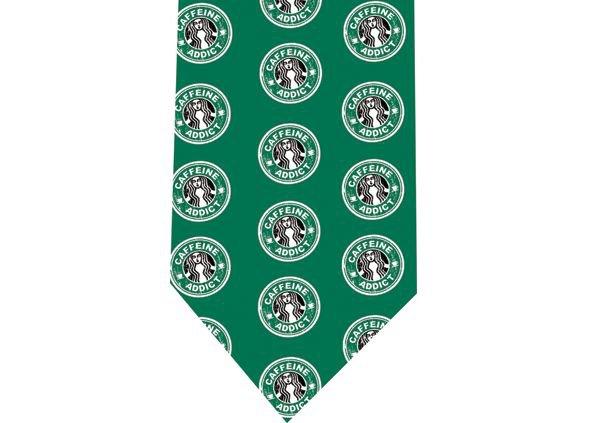 Caffeine Addict Coffe Tie