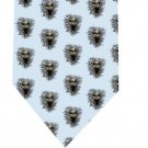 Screeming Skull Tie - Model 3 light blue