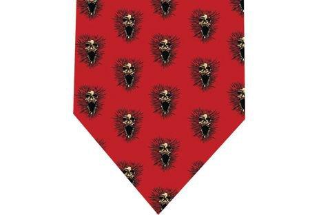 Screeming Skull Tie - Model 3 red