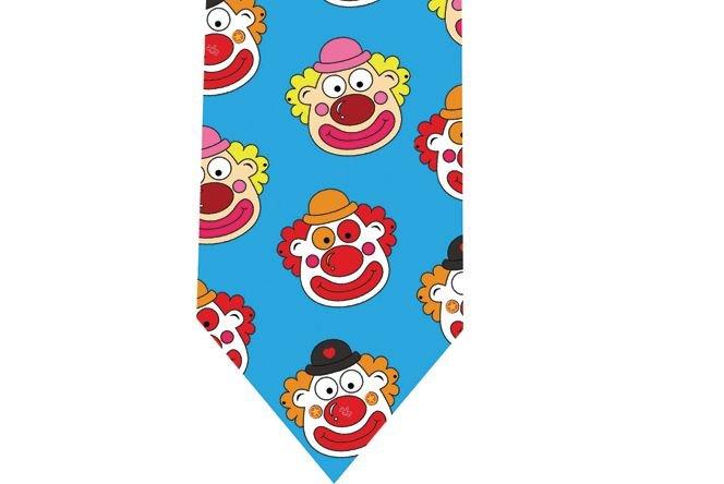 Clown Tie - Model 2 - cyan
