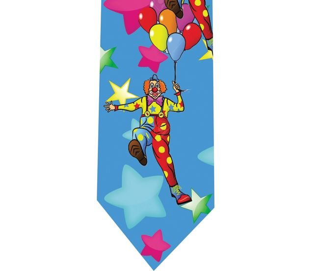Clown Tie - Model 4 - stars & balloons