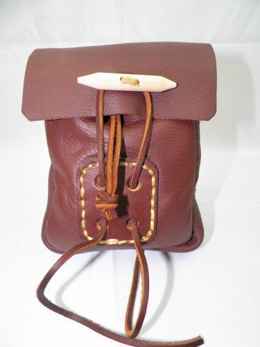 SMALL LEATHER BELT POUCH - LBP-S-Brown-002