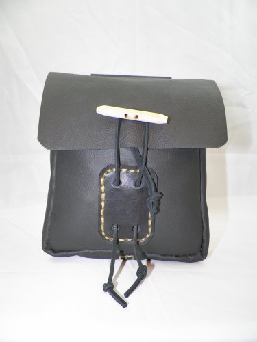 LARGE LEATHER BELT POUCH - LBP-L-BLACK-006