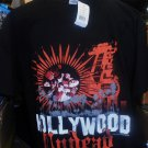 Hollywood-Undead-Sun-Palms-Black-T-Shirt-Mens-Large-2-Sided