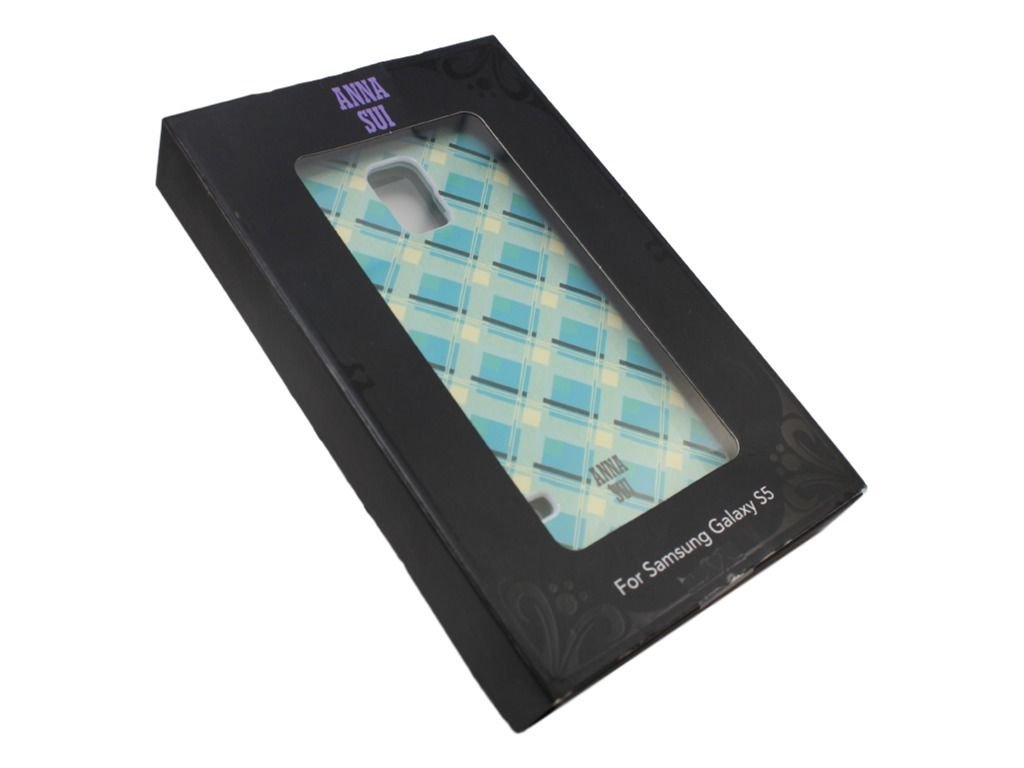 Anna Sui - Case for Samsung Galaxy S 5 Cell Phones - Blue/White