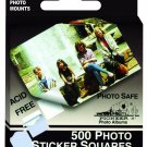 Pioneer Photo Squares Self Adhesive, 500/Pkg, White, 1/2 Inch