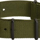 Clockwork Synergy® - 22mm Premium NATO PVD Army Green Watch Strap Band