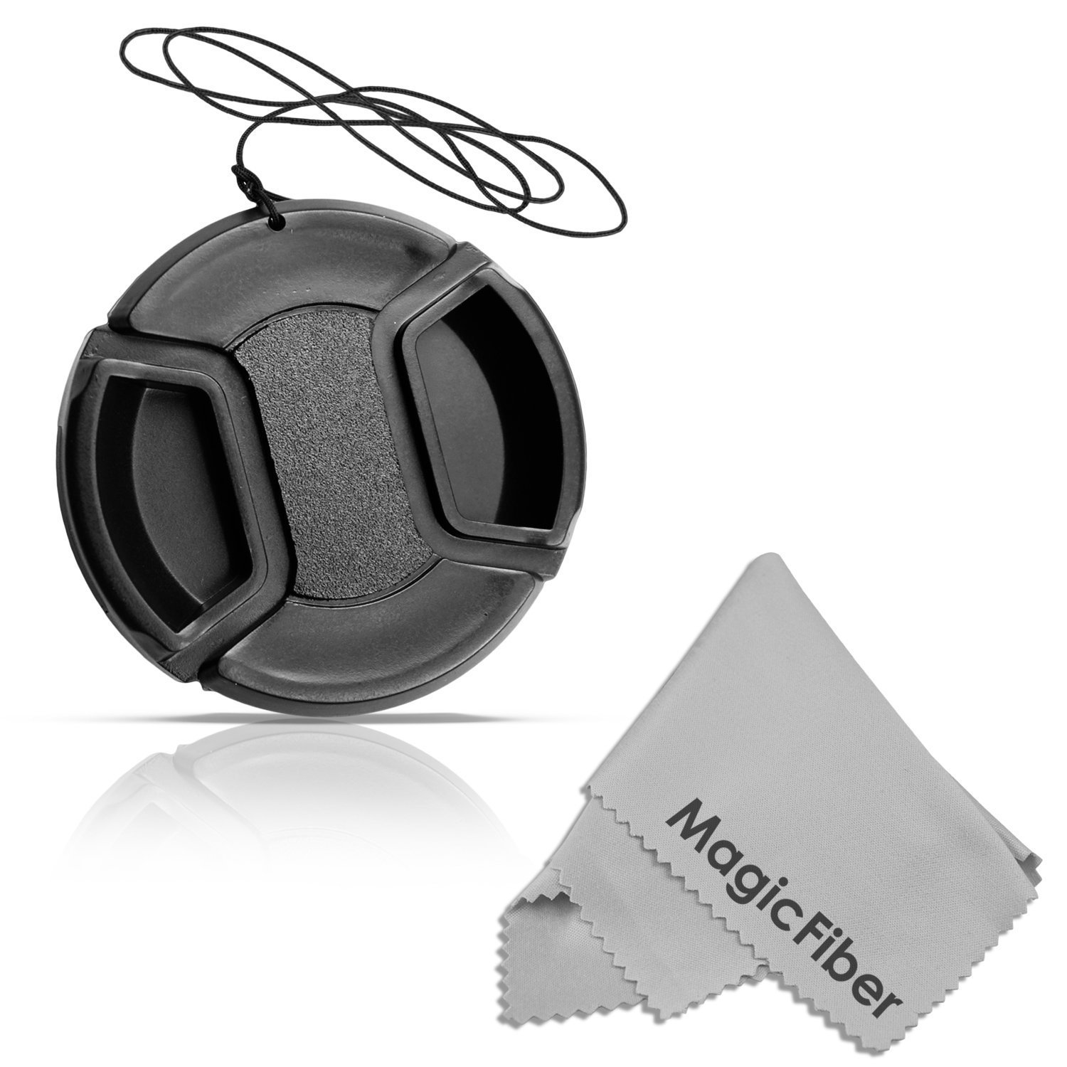 49MM Altura Photo Center Pinch Front Lens Cap for SONY Alpha A3000 DSLR Camera and NEX Series