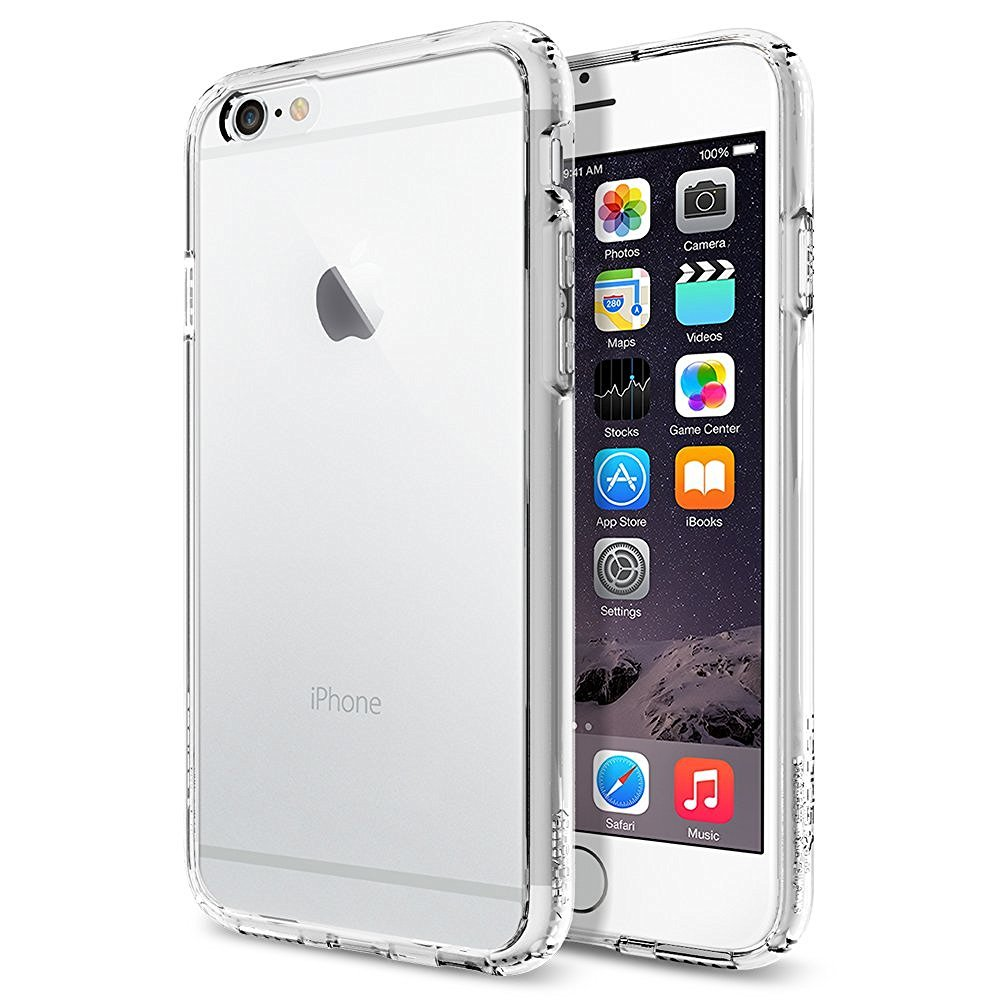 Spigen Ultra Hybrid Series Cover for iPhone 6/6s- Crystal Clear