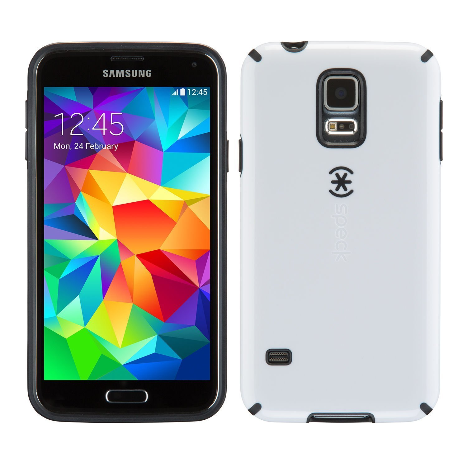Speck Candyshell Samsung Galaxy S5 Case WHITE/BLACK