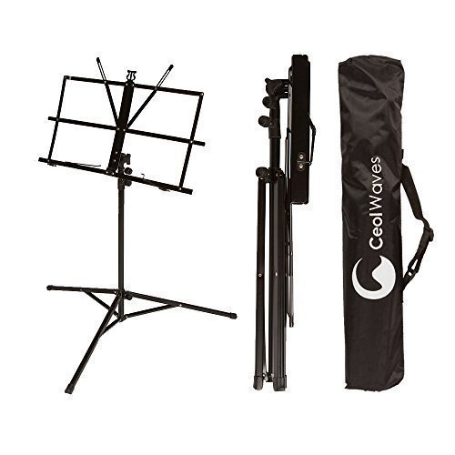 Sheet Music Stand Portable Adjustable Folding Music Holder w/ Carrying Case Bag by Ceol Waves