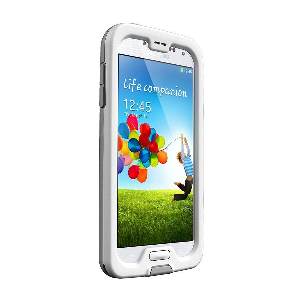 LifeProof FRE Samsung Galaxy S4 Waterproof Case - Retail Packaging - WHITE/GREY