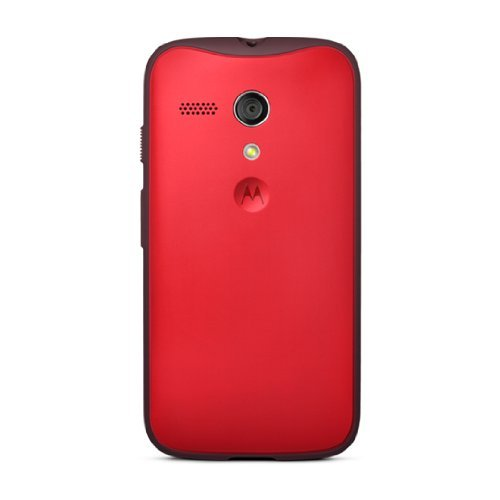 Motorola Grip Shell for Moto G - Retail Packaging - Red + Red TPU