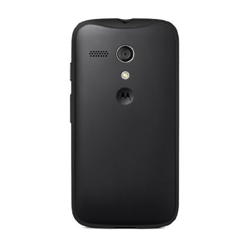 Motorola Grip Shell for Moto G - Retail Packaging - Licorice + Black TPU
