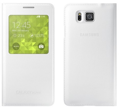 Samsung S-View Cover for Samsung Galaxy Alpha (White)