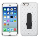 Apple iPhone 6 (4.7) Black/White Symbiosis Stand Protector Case Cover Diamonds