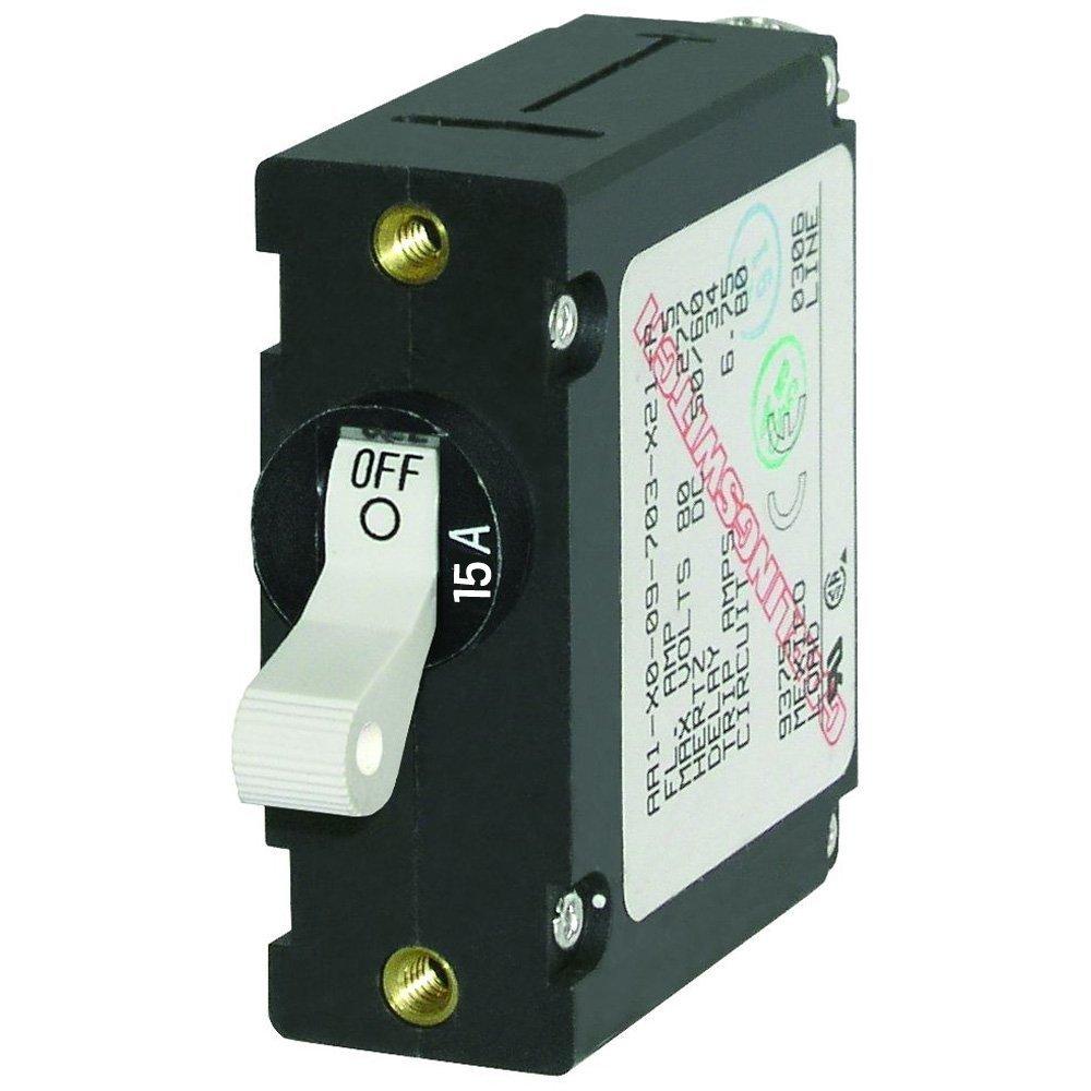 Blue Sea 7210 AC / DC Single Pole Magnetic World Circuit Breaker - 15 Amp