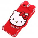 TFS Iphone 6 Plus Case , 3D Cartoon Cat Crystal Soft Silicone Case  RED