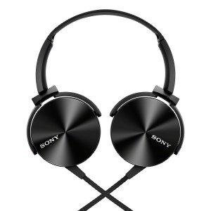 Sony MDR XB450AP Over-Ear Headphones with Mic - Omni-Directional - Black