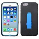 Asmyna Symbiosis Stand Protector Cover for iPhone 6 - Retail Packaging - Black/Blue