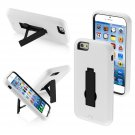 Asmyna Symbiosis Stand Protector Cover for iPhone 6 - Retail Packaging - White/Black