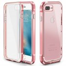 Trianium Detachable Metallic Series PC Frame iPhone 7 plus Case - ROSE GOLD/CLEAR