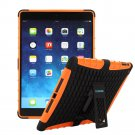 TKOOFN Hybrid Colors Combo Cases 2 in 1 Dual DefenderApple iPad Air(5th Generation), Orange