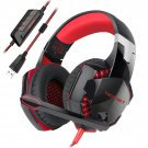 TeckNet 7.1 Channel Surround Sound PC Computer Over Ear Headphones RED/BLACK