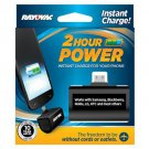 Rayovac 2 Hour Power Micro USB Emergency Charger with Battery Included (PS72-BT6)